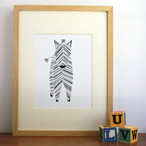 Image of Zeek Zebra Illustration - Safari Collection