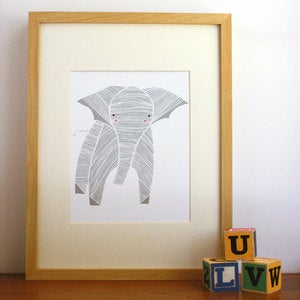 Image of Elly Elephant Illustration - Safari Collection by Gingiber