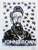 Image of John Brown linocut by Mister Kansas