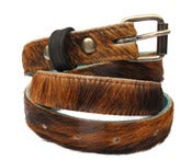 Image of No.80002 skinny belt. cow fur