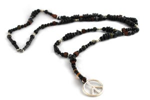 Image of Wood and Stone Beaded Peace Rosary