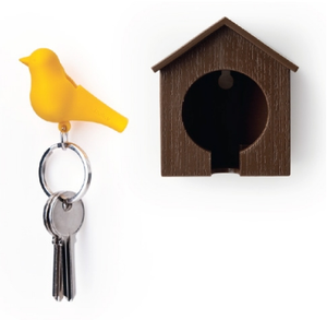 Image of Sparrow lovers key holder