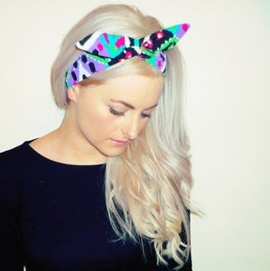 Image of Bright Aztec Scarf Wrap Hairband