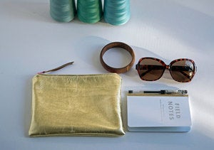 Image of Leather Mini Clutch by Florence Oliver