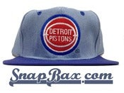 Image of Vintage Deadstock Detroit Pistons Denim Snapback Hat Cap