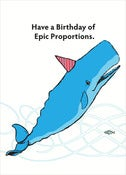 Image of Birthday of Epic Proportions Card