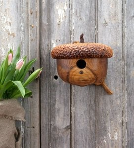 Image of Acorn Birdhouse - Garden Decor