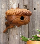 Wood Acorn Birdhouse - Mother's Day Gift - Natural Birdhouse