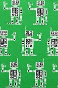 Image of Green robots organic cotton jersey (by the half metre)
