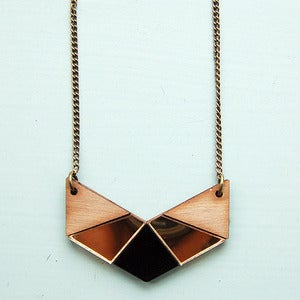 Image of Geo Chevron Necklace - Gold by Nylon Sky