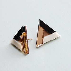 Image of Pyramid Earrings - Gold by Nylon Sky