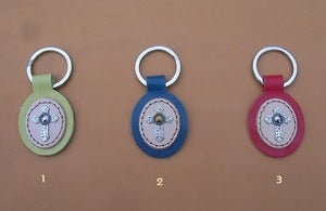 Image of Porte-clefs avec croix mtalique.