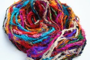 Image of The Blender Live Wire Sari Yarn: Unrefined Recycled Silk Yarn
