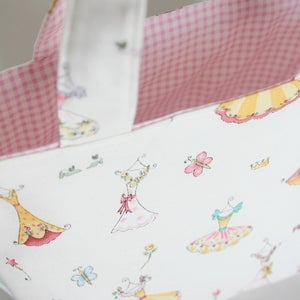 Image of Reversible Little Sister Bag - Dresses
