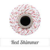 Image of Red Shimmer - Red Metallic & Natural Twine