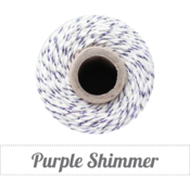 Image of Purple Shimmer - Purple Metallic & Natural Baker's Twine