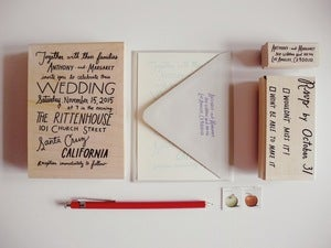 Image of Custom Hand lettered Wedding Invitation