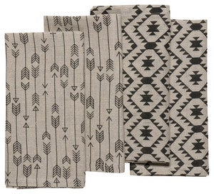 Image of Arrow + Adobe Linen Napkins set of 4