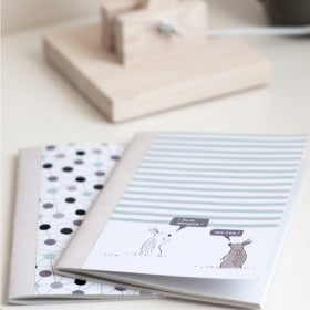 Image of Notebook Set of 2: Stripy Bunnies & Molecule
