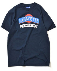 Image of LAFAYETTE WORLD WIDE TEE NAVY