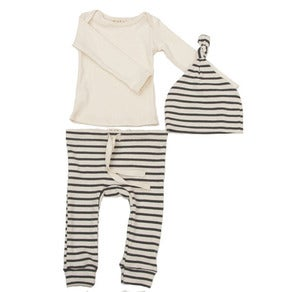 Image of Striped Organic Cotton Layette Set