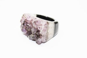 Image of NEW IN! MAGPIE SPARKLE Semi-Precious Drusy Ring (Medium)