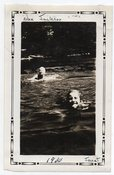 Image of WOMEN SWIMMING IN LAKE VINTAGE SNAPSHOT PHOTO
