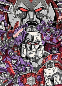 Image of Transformers Oversized Print By Tim Doyle