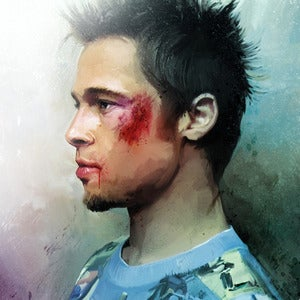 Image of Brad Pitt (Tyler Durden) The Fight Club