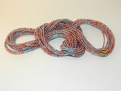 Image of Red and Light blue Single Strand waist bead