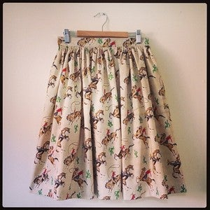 Image of 'I'm a Cowboy' skirt - limited