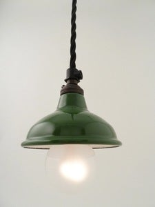 Image of enamel industrial shade | 80mm | racing green