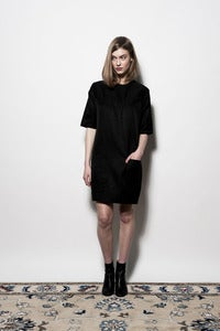 Image of W13 4 Pocket Shift Dress - Black