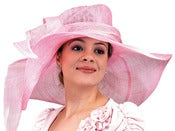 Image of Big Brim Sinamay Hat - Pink