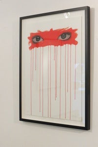 Image of &quot;Sometimes I Look Into Your Eyes...(Red)&quot; ltd. edition giclee print by Mydogsighs