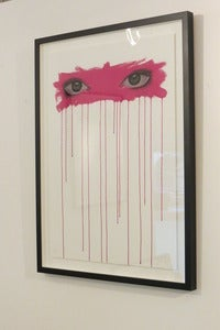 Image of &quot;Sometimes I Look Into Your Eyes...(Cerise)&quot; ltd. edition giclee print by Mydogsighs