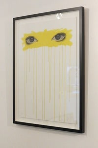 Image of &quot;Sometimes I Look Into Your Eyes...(Yellow)&quot; ltd. edition giclee print by Mydogsighs