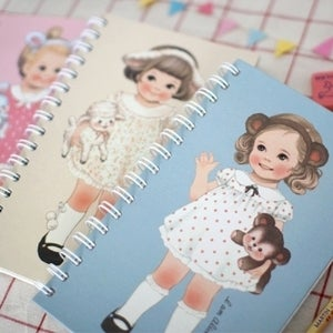 Image of Paper doll mate spring notebook