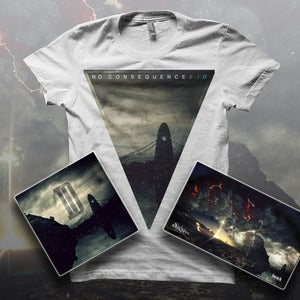 Image of NO CONSEQUENCE - 'IO' Ltd Ed Tee + CD Digipak + Free Poster