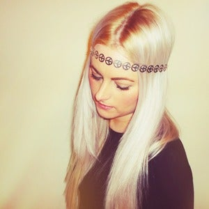 Image of Peace Headband (Silver/Gold)