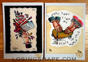 Image of SET OF 2 5x7 PRINTS - TRUE TO YOU/OUIJA BOARD