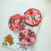 Image of set of 3 posy pins - 818