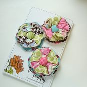 Image of set of 3 posy pins - 822