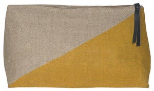 Image of Sasha Large Linen Cosmetic Bag:: Goldenrod