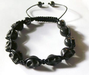 Image of Skull Beads Bracelet [Black]