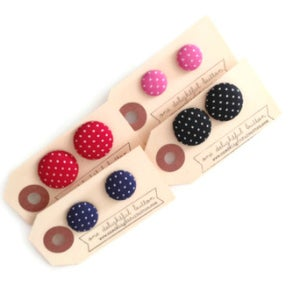 Image of Swiss Dot Button Earrings