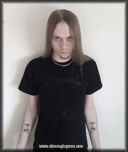 Image of Shining &quot;Antihumanitarian&quot; Black T-shirt - with Black print