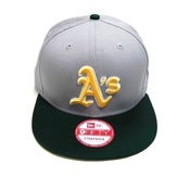 "Image of OAKLAND A'S ""BASIC STRAP"" STRAPBACK (GREY/FOREST)"