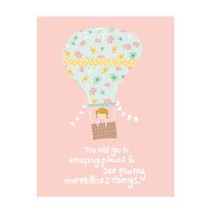 Image of You'll go to amazing places, Art Print (Girls)