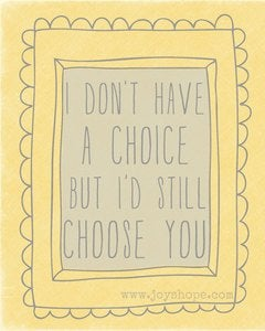 Image of Choose you.